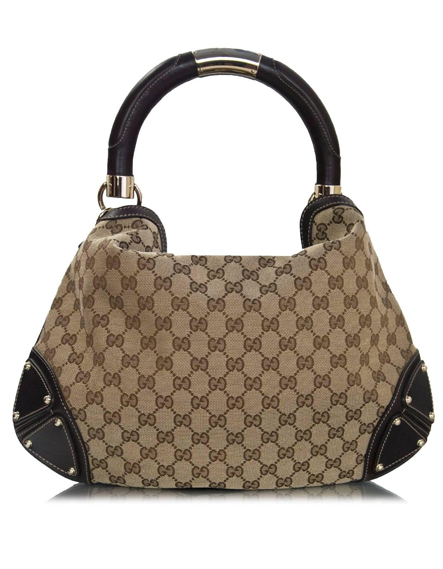 cc1e7a42733 Gucci Brown Monogram Canvas Medium Indy Tassel Bag with Strap For Sale at  1stdibs