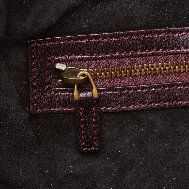 Gucci Brown Python Soft Stirrup Shoulder Bag For Sale 3