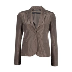 Gucci Brown Silk Blazer S
