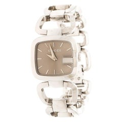 Gucci Brown Stainless Steel G 125.5 Women's Wristwatch 24 mm