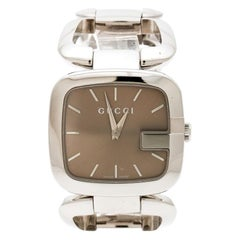 Gucci Brown Stainless Steel G 126.4 Women's Wristwatch 32 mm