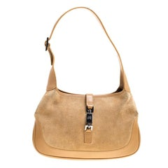 Gucci Brown Suede and Leather Jackie Shoulder Bag