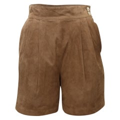 Gucci Brown Suede High-Rise Shorts