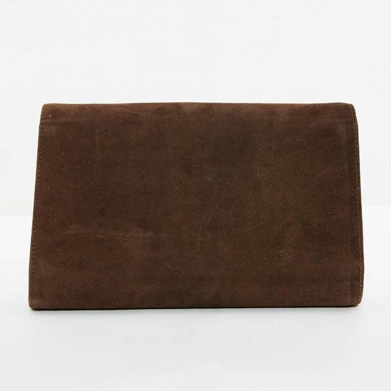 Black GUCCI Brown Suede Vintage Bag For Sale