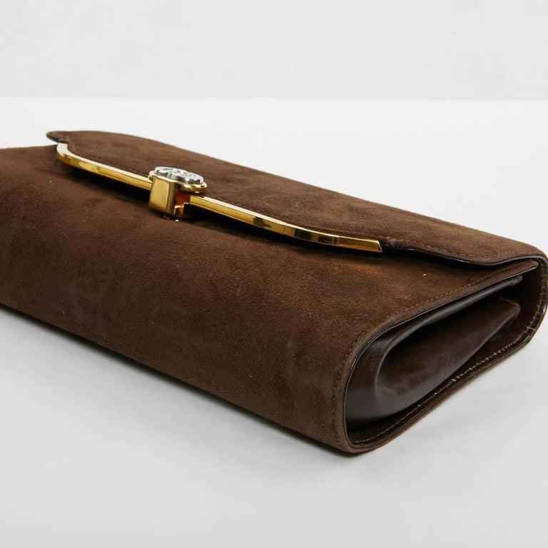 GUCCI Brown Suede Vintage Bag For Sale 1