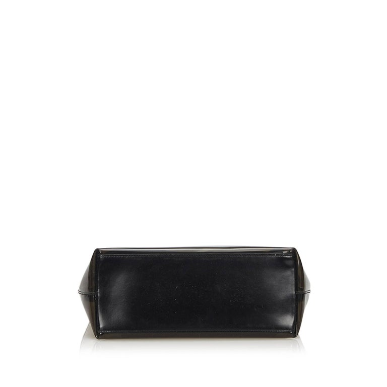 Women's or Men's Gucci Brown Vinyl Transparent Bamboo Handbag  For Sale
