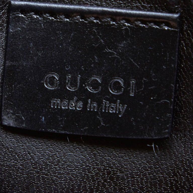 Gucci Brown Vinyl Transparent Bamboo Handbag  For Sale 1