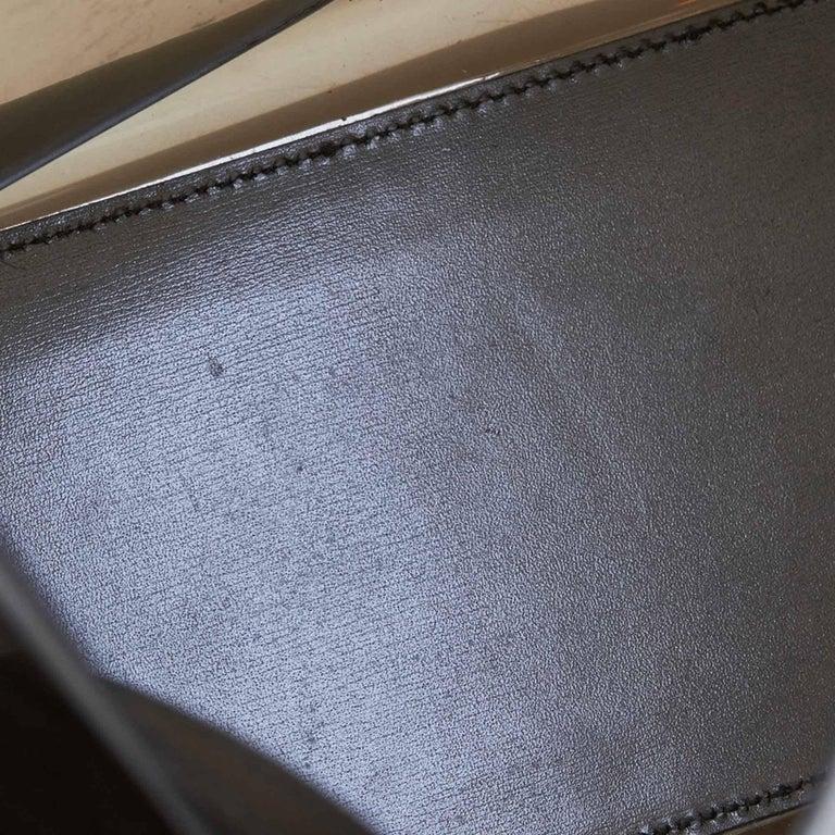 Gucci Brown Vinyl Transparent Bamboo Handbag  For Sale 2