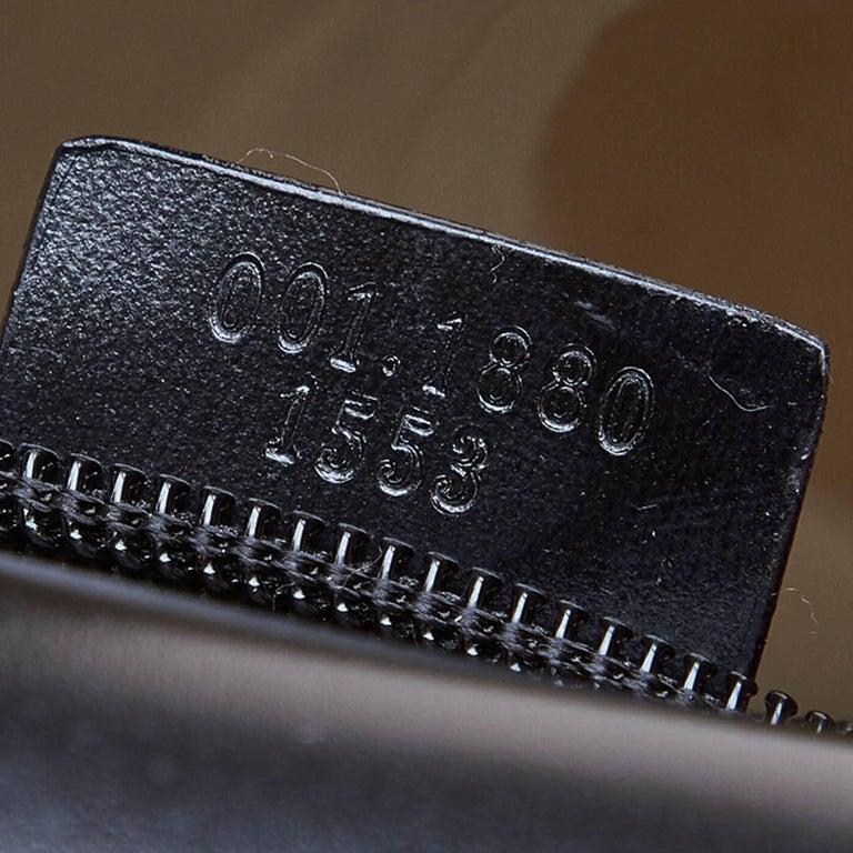 Gucci Brown Vinyl Transparent Bamboo Handbag  For Sale 4