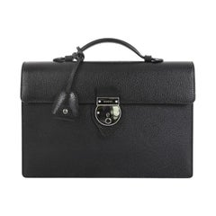Gucci Buckle Flap Briefcase Leather Medium