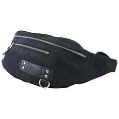 Gucci Bum Web Tag Waist Pouch 18gz0724 Black Canvas X Nylon Weekend/Travel Bag