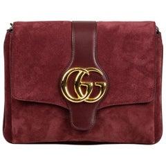 Gucci Burgundy Arli Suede Crossbody bag one size