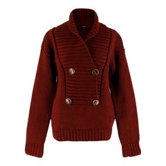 Gucci Burgundy Chunky Knit Sweater S