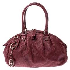 Gucci Burgundy Guccissima Leather Medium Sukey Boston Bag