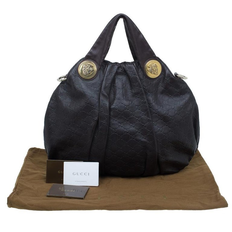 Gucci Burgundy Guccussima Leather Large Hysteria Hobo For Sale 11