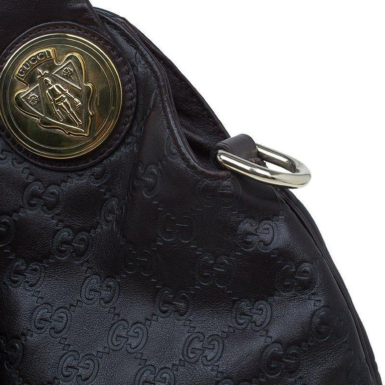 Gucci Burgundy Guccussima Leather Large Hysteria Hobo For Sale 1