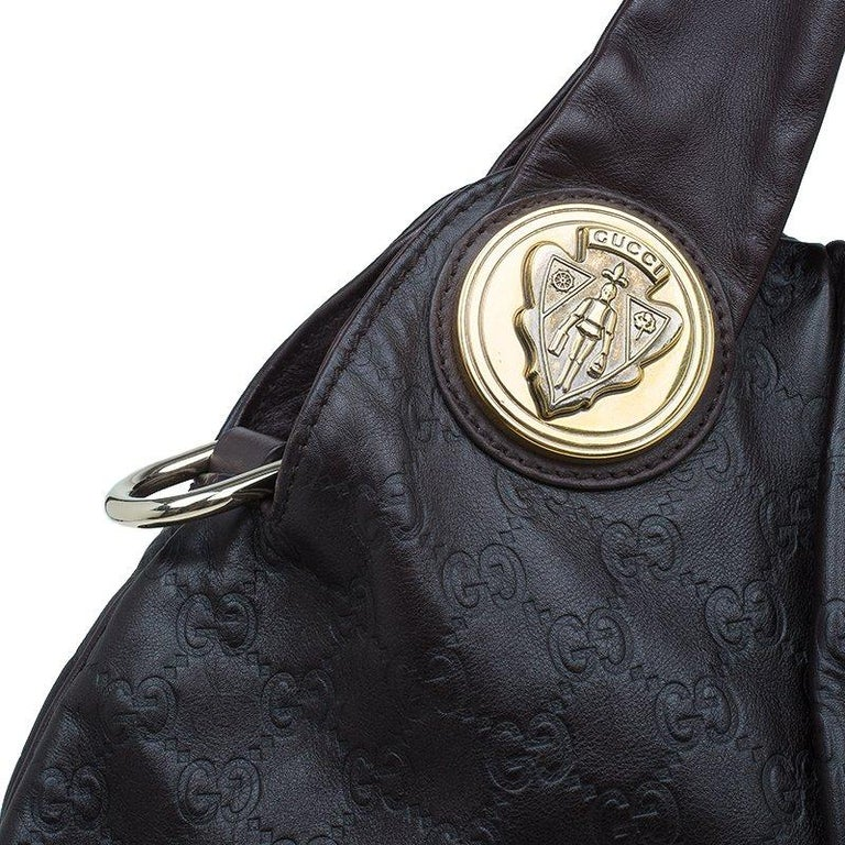 Gucci Burgundy Guccussima Leather Large Hysteria Hobo For Sale 2