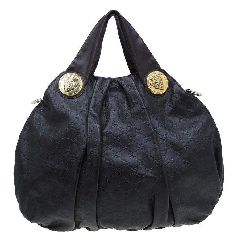 Gucci Burgundy Guccussima Leather Large Hysteria Hobo For Sale