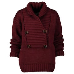 Gucci Burgundy Knitted Sweater - Size XS