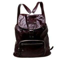 Gucci Burgundy Leather Backpack