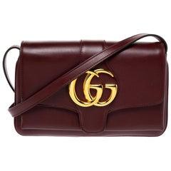 Gucci Burgundy Leather Small Arli Shoulder Bag