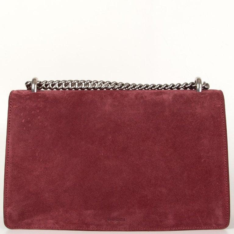 Brown GUCCI burgundy suede DIONYSUS SMALL Shoulder Bag
