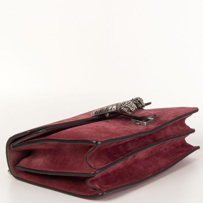 GUCCI burgundy suede DIONYSUS SMALL Shoulder Bag In Excellent Condition In Zürich, CH