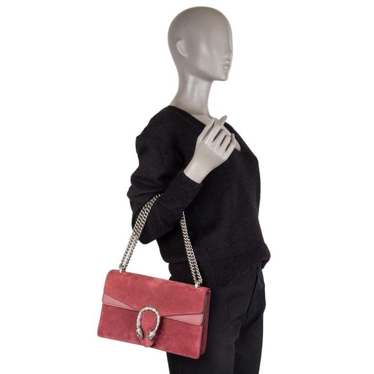 GUCCI burgundy suede DIONYSUS SMALL Shoulder Bag 3