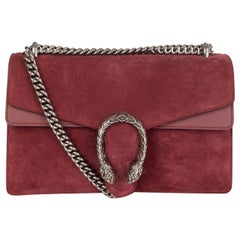 GUCCI burgundy suede DIONYSUS SMALL Shoulder Bag