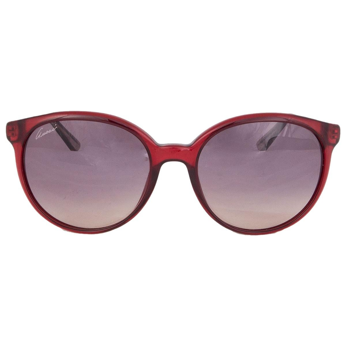 GUCCI burgundy Sunglasses gradient grey Lenses GG 3697/S