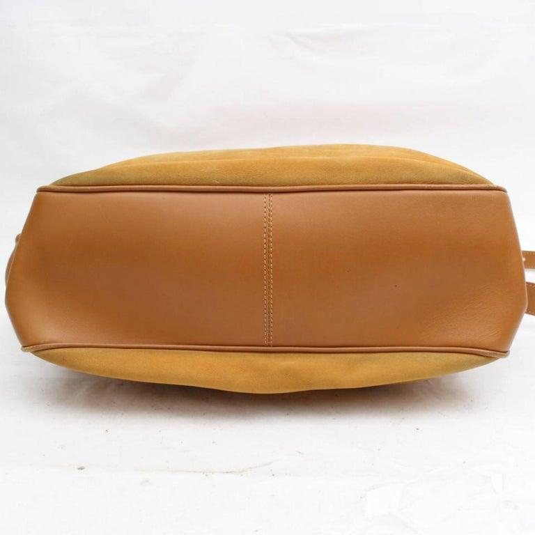 9933b26feb2e Gucci Burnt Orange Flap Over Shoulder 868421 Suede Leather Weekend/Travel  Bag For Sale 3