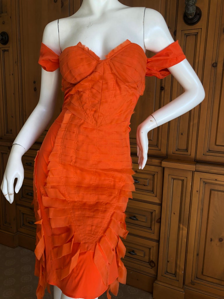 Gucci by Tom Ford 2004 Orange Ribbon Dress Tom Ford Book Piece  In Excellent Condition In San Francisco, CA
