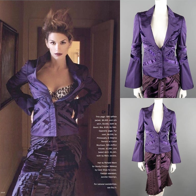 e575781e5aec This gorgeous skirt suit from GUCCI Fall 2004, TOM FORD's final collection  comes in silk