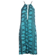 Gucci by Tom Ford aqua blue beaded evening dress, ss 2000