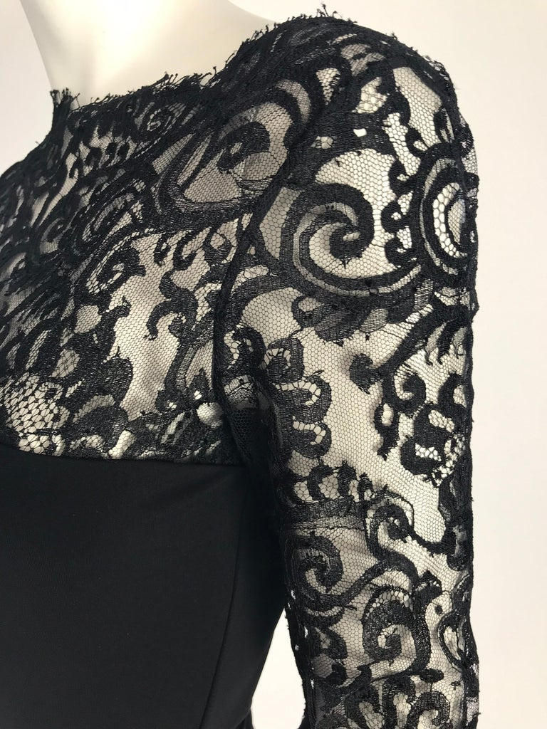 Gucci by Tom Ford Black Lace Cocktail Dress In Excellent Condition In Austin, TX
