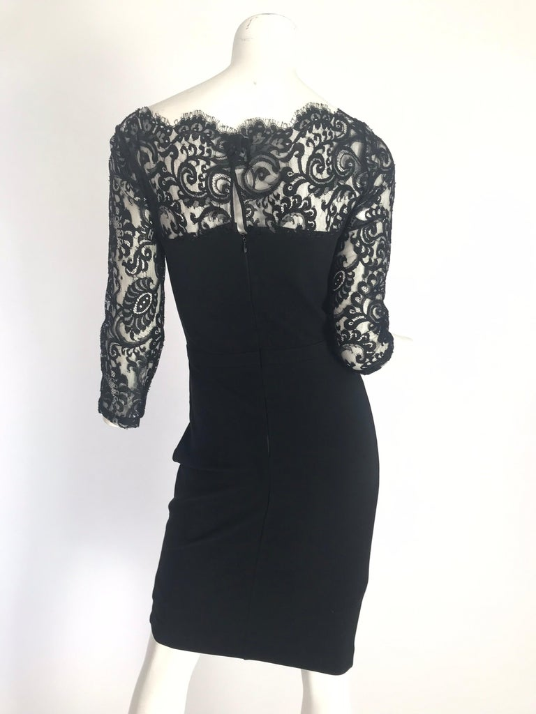 Women's Gucci by Tom Ford Black Lace Cocktail Dress