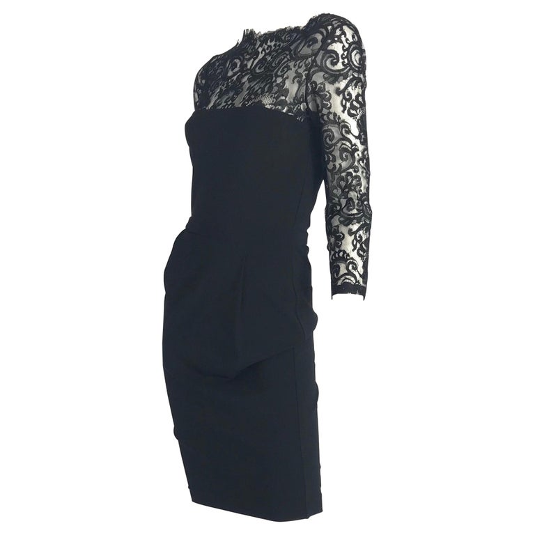 Gucci by Tom Ford Black Lace Cocktail Dress
