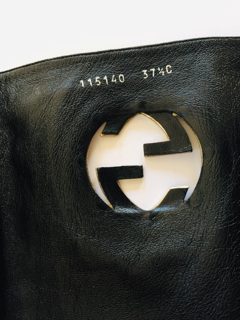 Gucci by Tom Ford Black Leather Boots For Sale 4