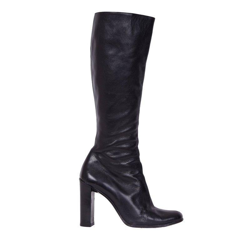 Gucci by Tom Ford Black Leather Boots For Sale 7