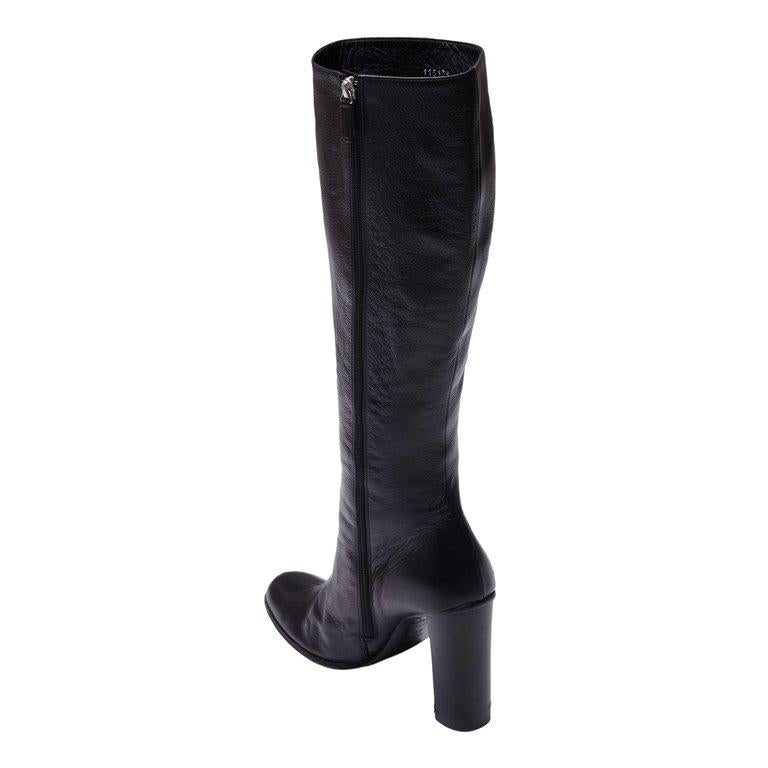 Gucci by Tom Ford Black Leather Boots For Sale 8