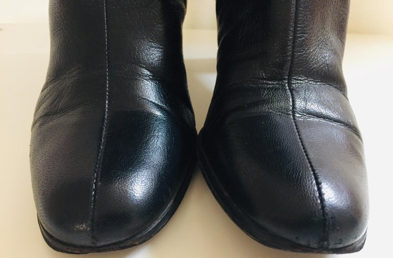 Gucci by Tom Ford Black Leather Boots For Sale 10