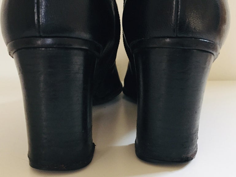 Gucci by Tom Ford Black Leather Boots For Sale 11