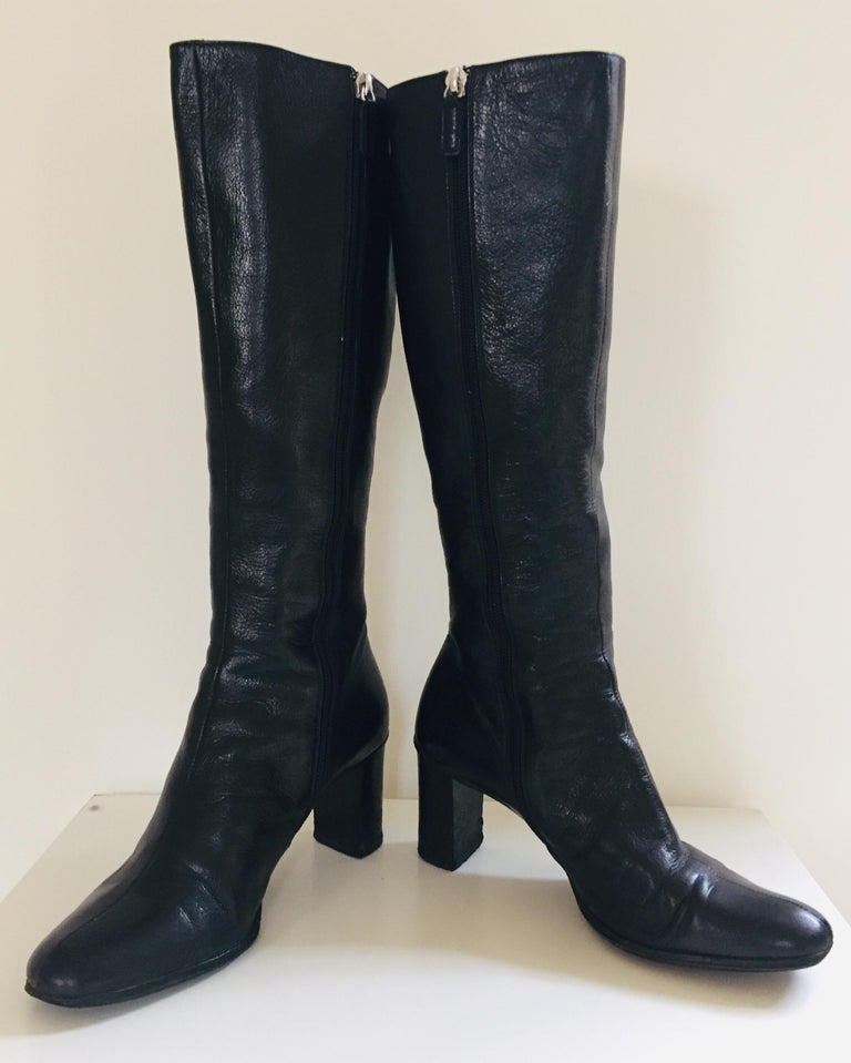 Modern Gucci by Tom Ford Black Leather Boots For Sale