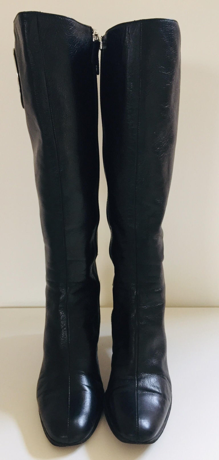 Italian Gucci by Tom Ford Black Leather Boots For Sale