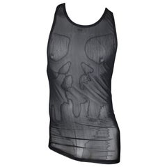 Gucci by Tom Ford Black Sheer Men's Tank Top, Size L
