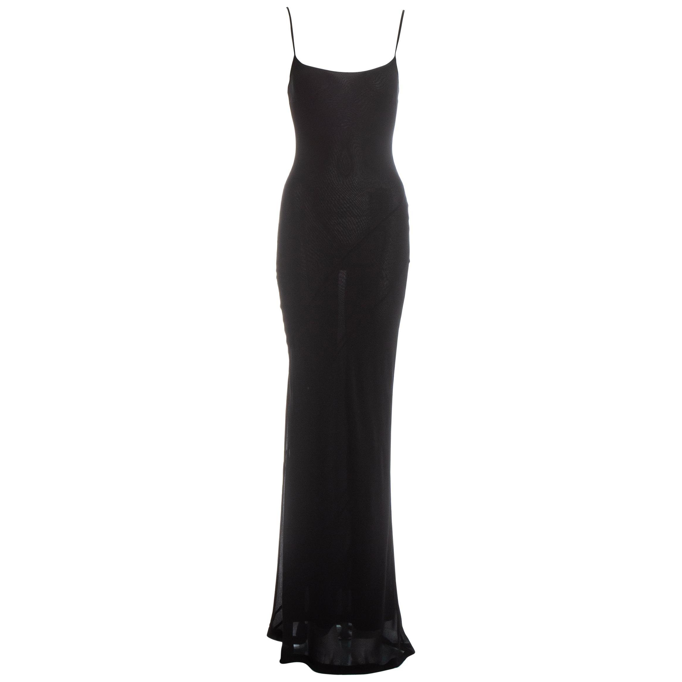 Gucci by Tom Ford black silk bias cut evening dress, ss 1997