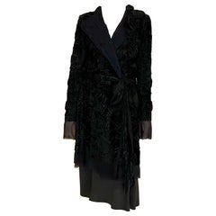 GUCCI by Tom Ford Black Silk Evening Coat