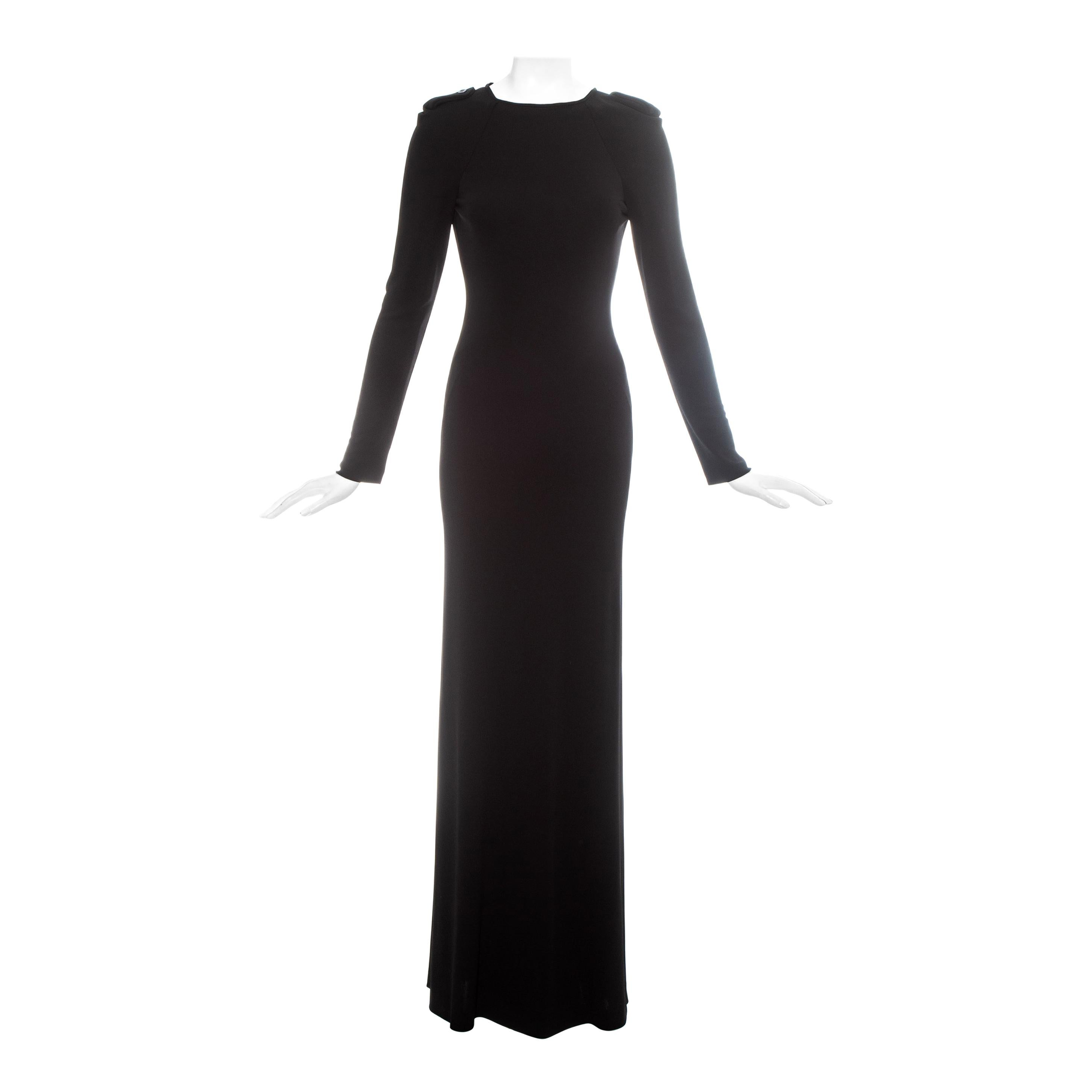 Gucci by Tom Ford black silk open back evening dress, fw 1996