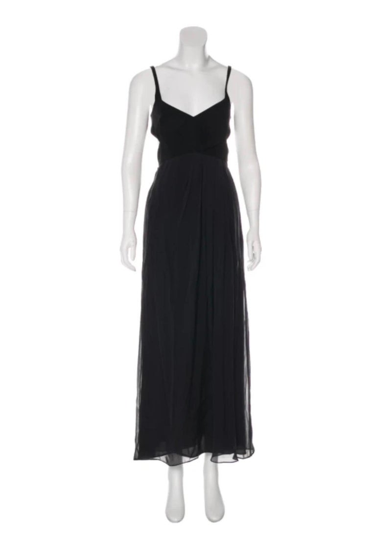 Black Gucci by Tom Ford black silk sleeveless dress with cut out For Sale