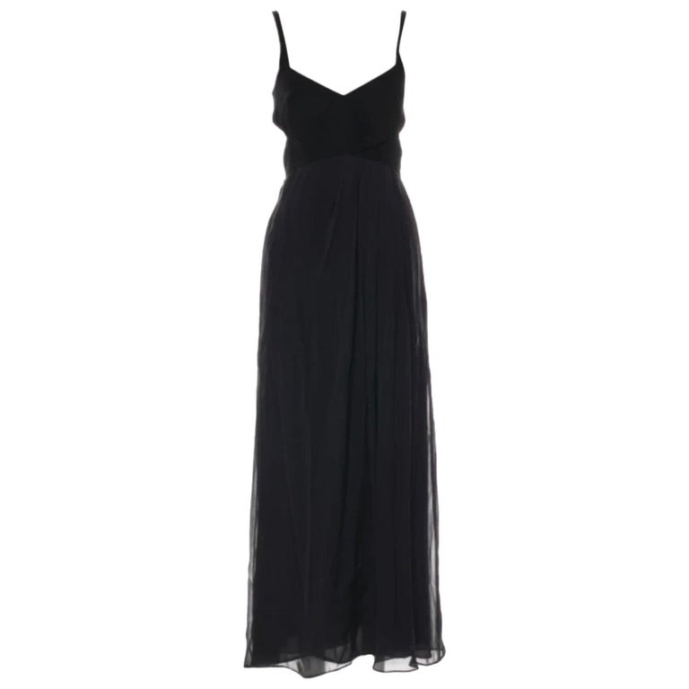 Gucci by Tom Ford black silk sleeveless dress with cut out For Sale
